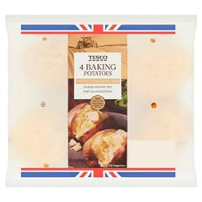 CHEAP! Tesco 4 Baking Potatoes ( Club Card Price )