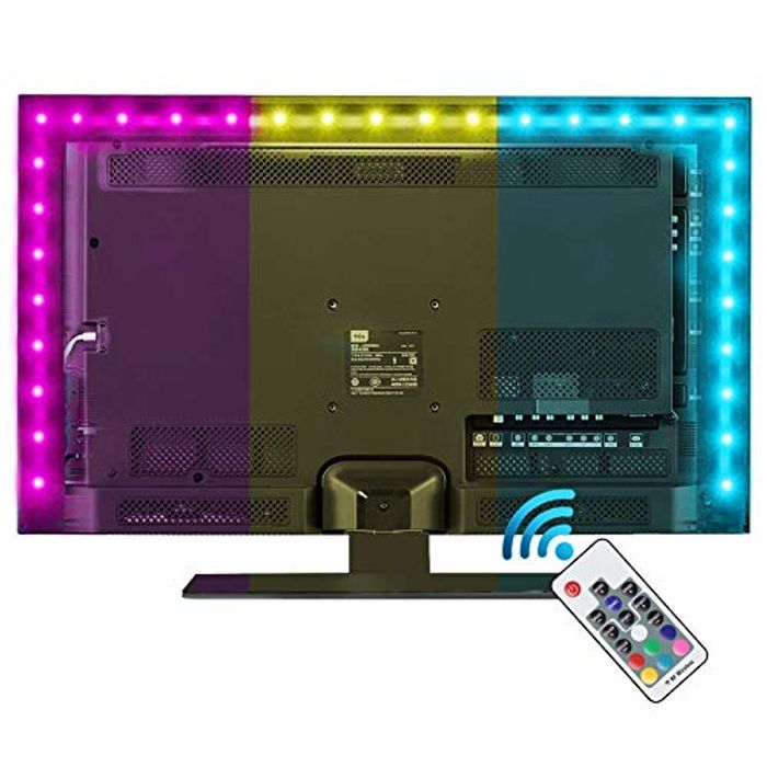 LED Strip Lights with Remote 2M, 6.6ft for 40-60 Inch HDTV