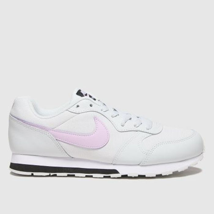 Nike White & Pink Md Runner 2 Trainers Youth