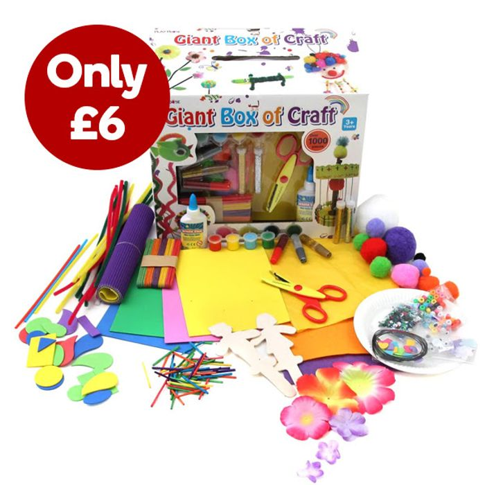 Giant Box of Craft 1000 Pieces for £6!!