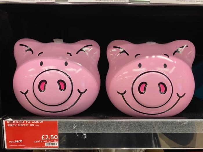 Half Price Percy Pig Biscuit Tin