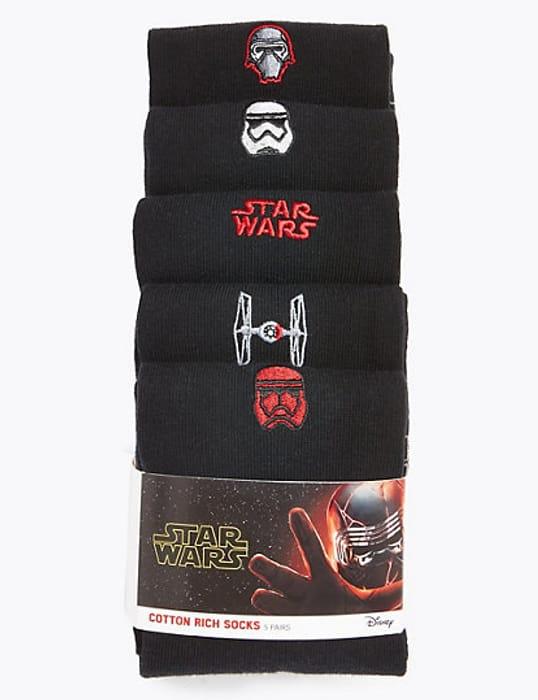 Five Pack of Star Wars Socks
