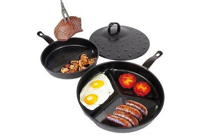 Get a 3-in-1 Non-Stick Frying Pan Set.