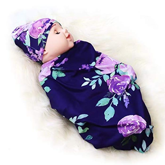Newborn Swaddle Sack with Matching Hat,Swaddle Wrap