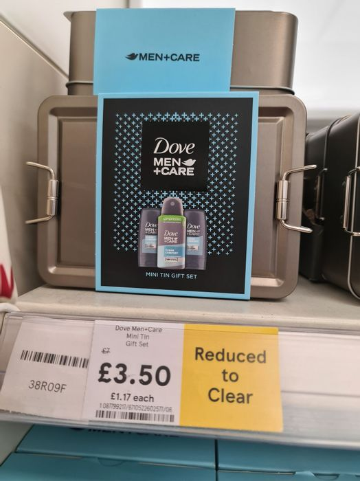 Dove Men Care Mini Tin Gift Set - Reduced to Clear