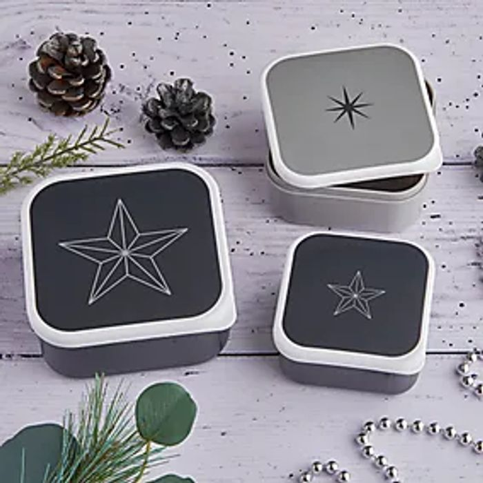 Dunelm Sparkle and Shine Set of 3 Food Boxes £1