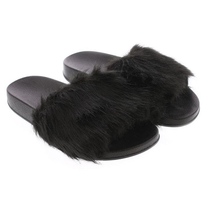 Night & Day Ladies Faux Fur Slippers