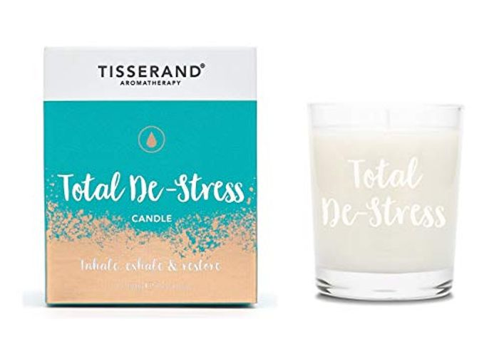 Tisserand Aromatherapy - Total De-Stress Candle with £10 off Coupon