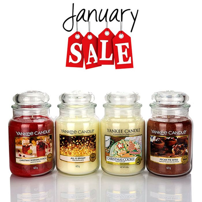 4 X Official Yankee Candle Classic Signature 623g Large Jars January Sale