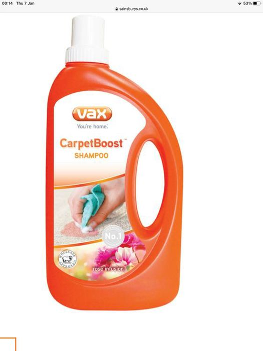 Vax Manual Carpet Shampoo
