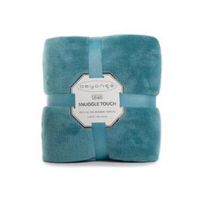 Deyongs Snuggle Touch Fleece Throw, Turquoise 140 X 180cm