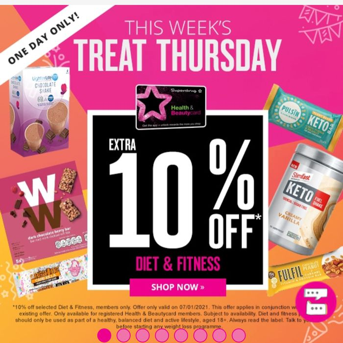 Treat Thursday Extra 10% Off For Members Only / on Diet & Fitness One Day Only