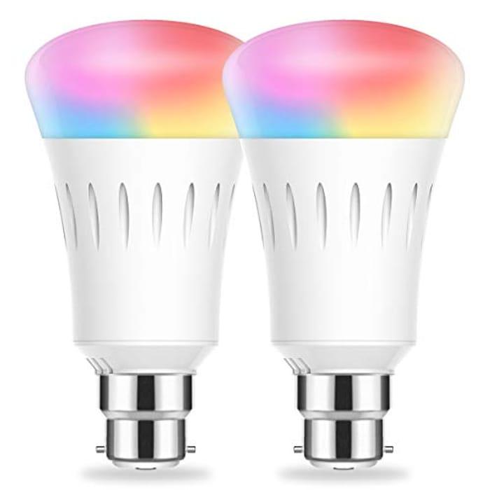 2 Pack - LOHAS B22 Smart Bulb - Works with Alexa and Google Home