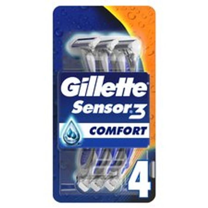 Gillette Sensor 3 Disposable Razors 4 Pack (Clubcard Price)