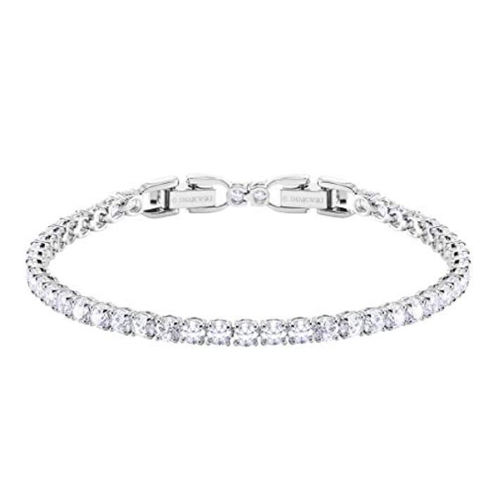 Women's Tennis Deluxe Bracelet, Brilliant Swarovski Crystals