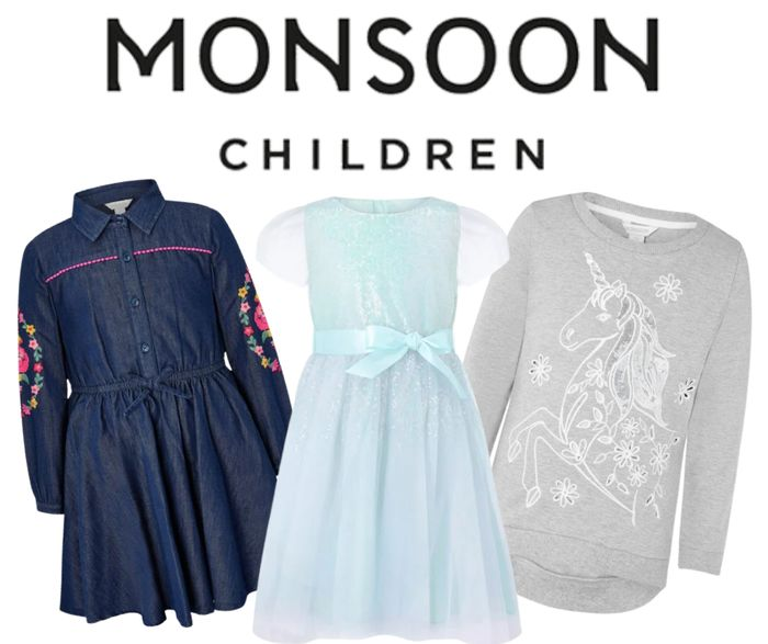 Monsoon Kid's Sale - Up to 50% off + Extra 10% Code