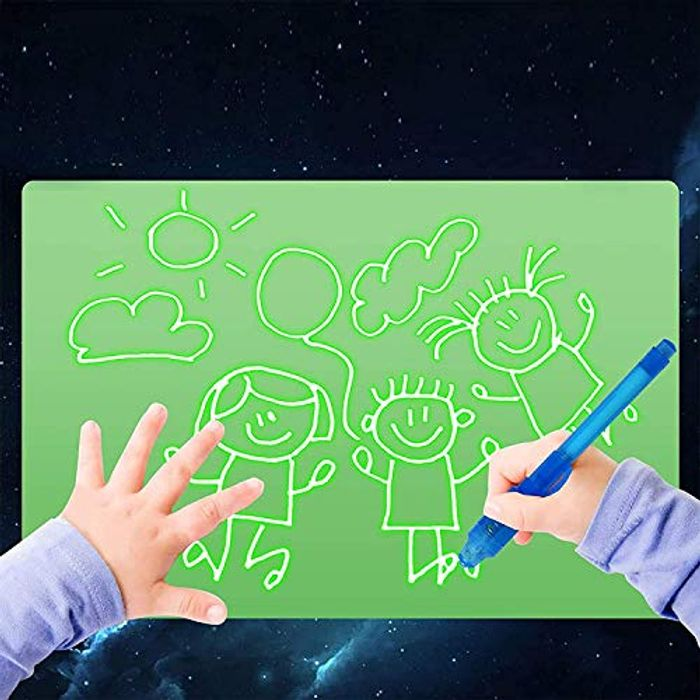 Draw with Light - A4 Fluorescent Luminous Board + Pen