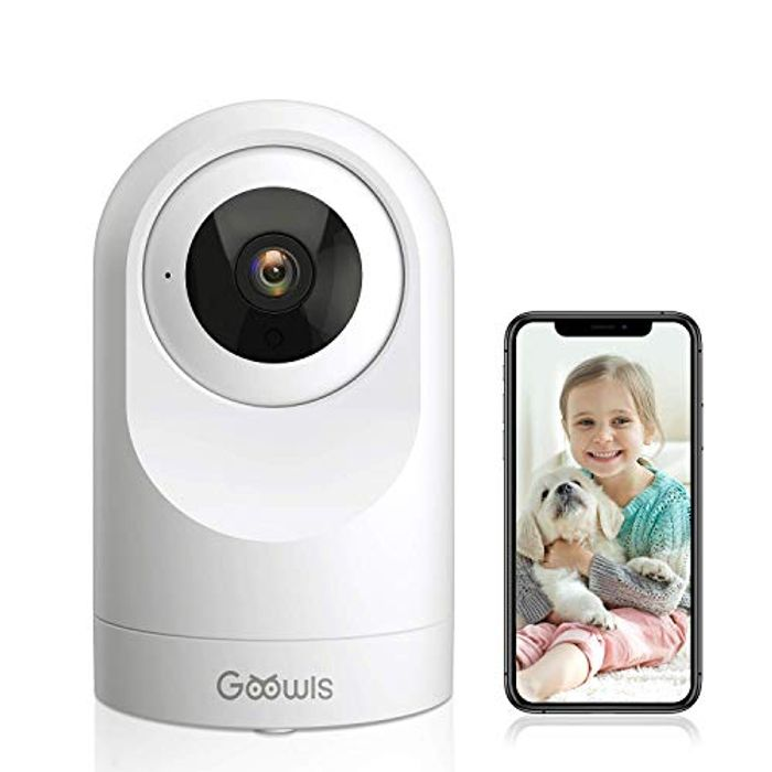 LIGHTNING DEAL - Goowls Home Security Camera Indoor 1080P IP Camera