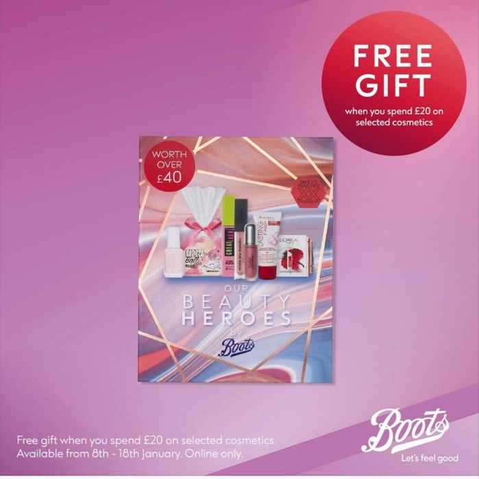 £40 worth of Free Beauty Products When You Spend £20