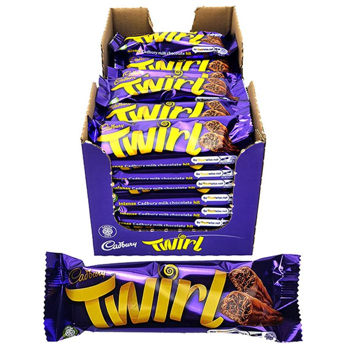 48 X Cadbury Twirl 2 Finger Milk Chocolate Bars