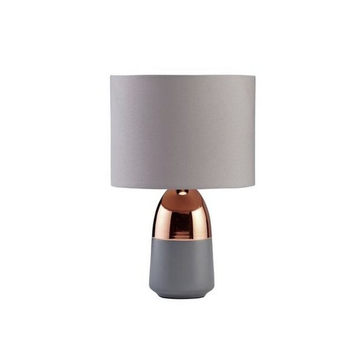 Argos Home Duno Touch Table Lamp - Grey & Copper