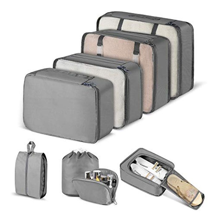 8 Packing Cube Set Only £5.19 (Prime Delivery)