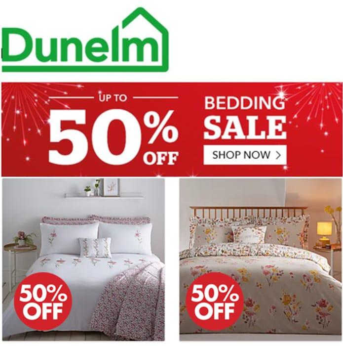 DUNELM BEDDING SALE - Lots at 1/2 Price
