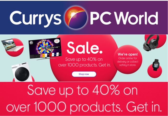 Currys January Sale - Big discounts on 1000+ Products