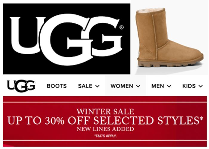 UGG WINTER SALE - up to 30% off + Extra 10% OFF