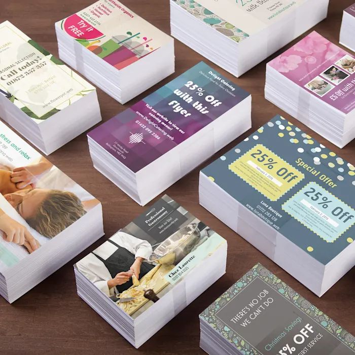 Free Stickers, Business Cards, Flyers Sample Pack.