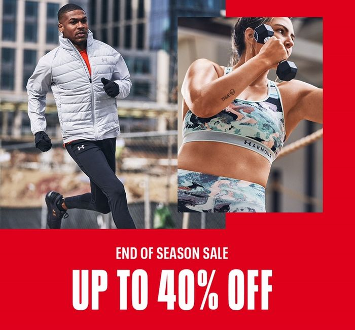 Under Armour - Up To 40% Off End Of Season Sale