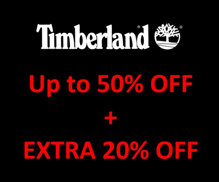 LAST CHANCE! TIMBERLAND up to 50% off + EXTRA 20% + FREE DELIVERY