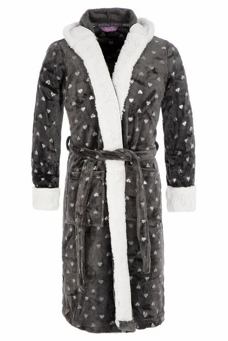 Foil Printed Hooded Robe
