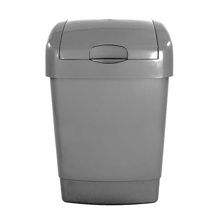 George Home Recycled Plastic Lift Lid 15L Bin Grey