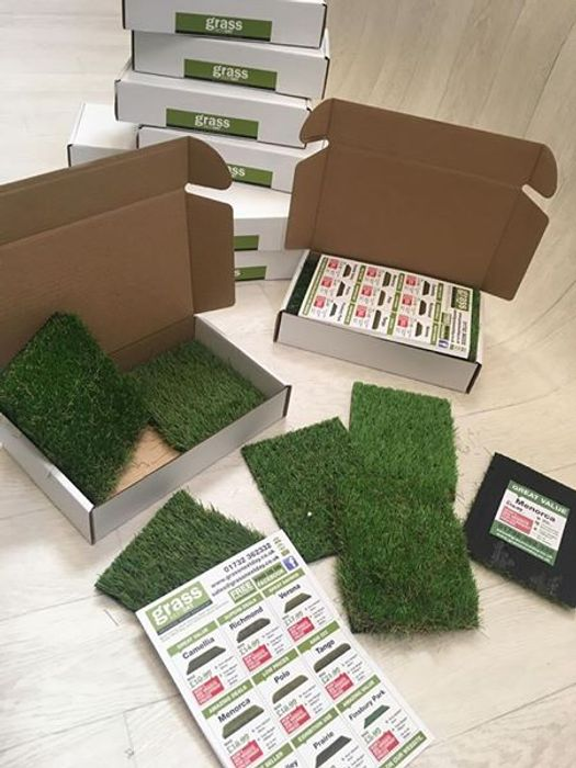 Free Artificial Grass Sample Box Pack.
