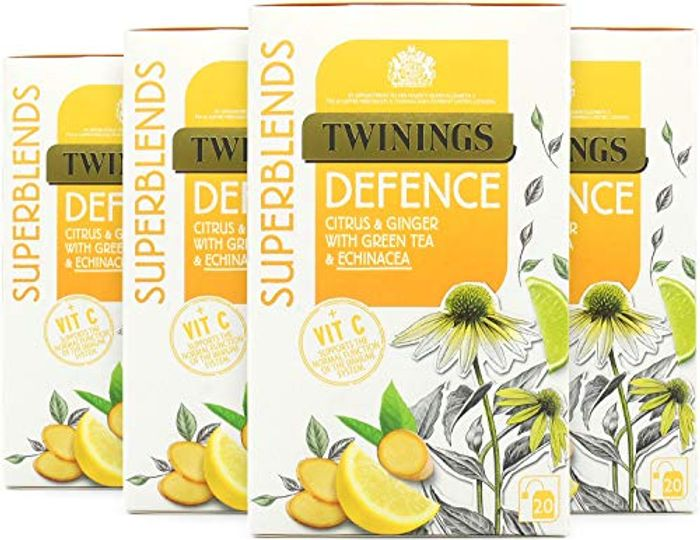 Twinings Super Blends Defence Tea Bags, Pack of 4, 80-Count