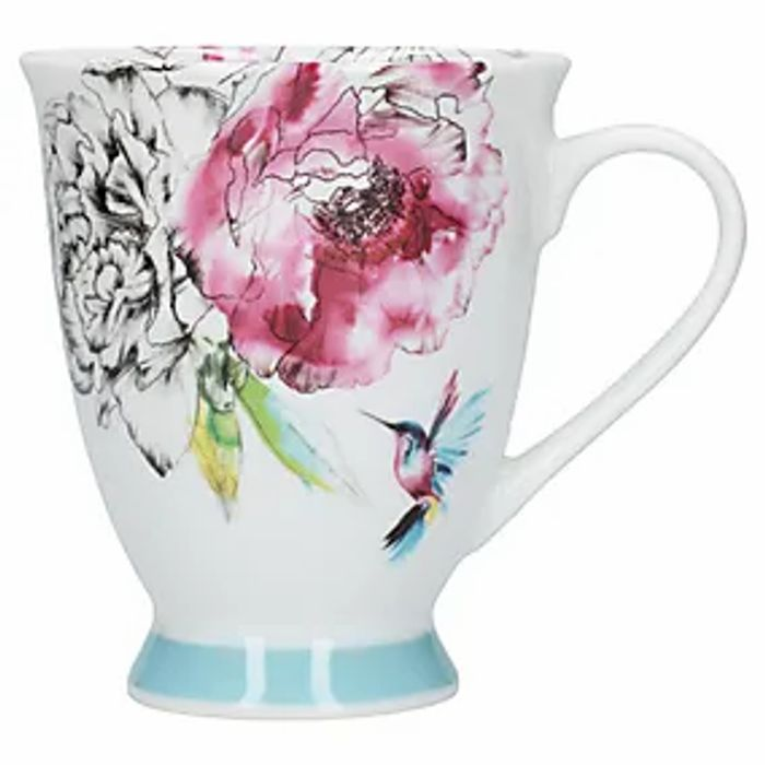 Heavenly Hummingbird Footed Mug