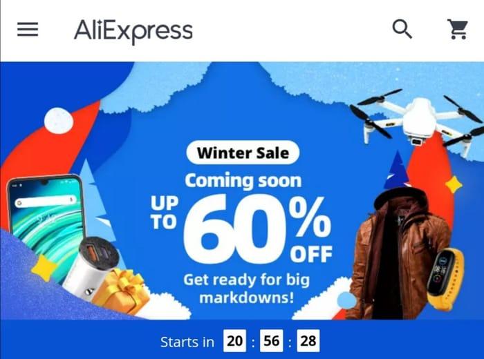Aliexpress Winter Clearance Sale - Starts 11.01.21