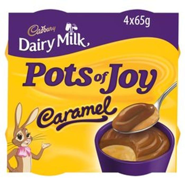 Cadbury Dairy Milk Pots of Joy Caramel - 4 X 65g