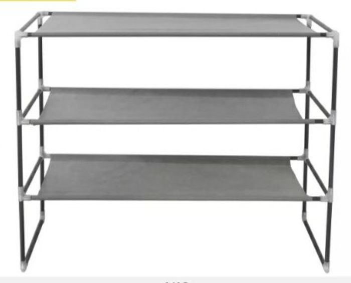 Argos Home 3 Shelf Stackable Fabric Shoe Storage Rack - Grey