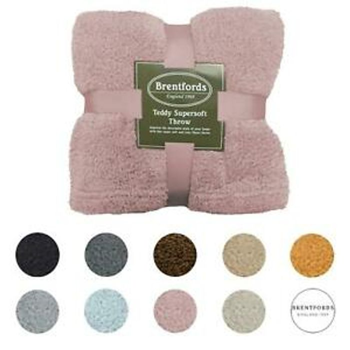 Brentfords Teddy Fleece Bear Blankets - £8 Delivered