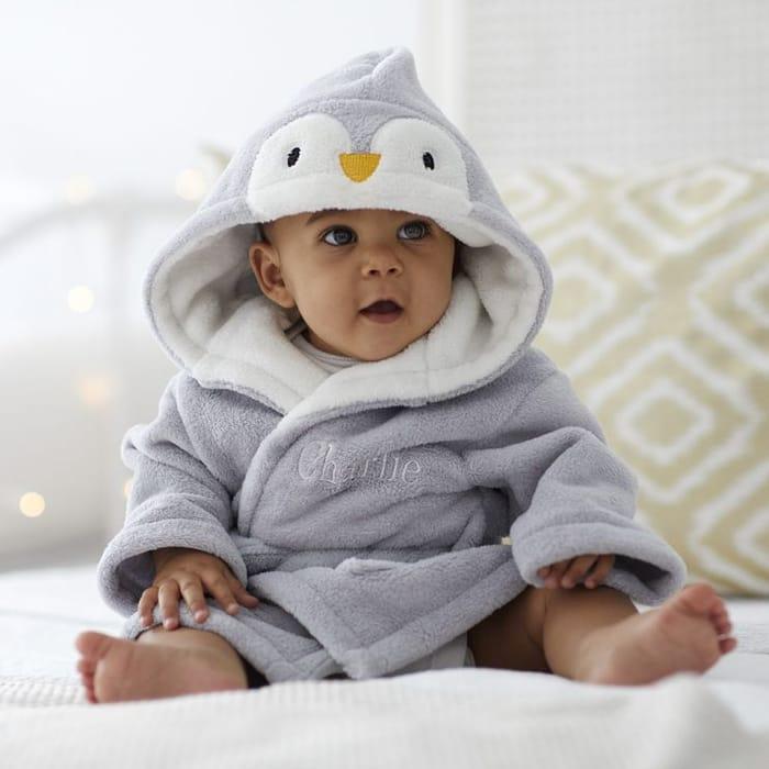 Penguin Baby Robe Personalised