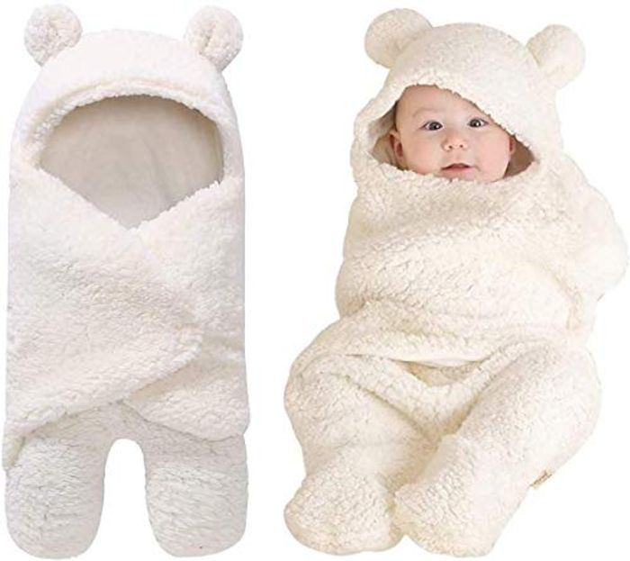 DEAL STACK - Baby Swaddle Wrap Lamb Blanket + 5% Coupon