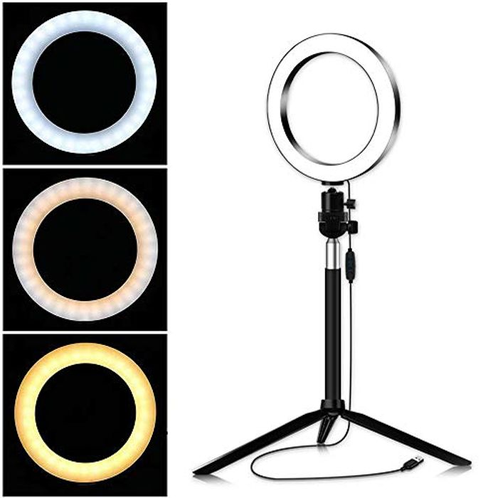 LED Ring Light with Stand 7.8inch/20cm 3 Color Modes