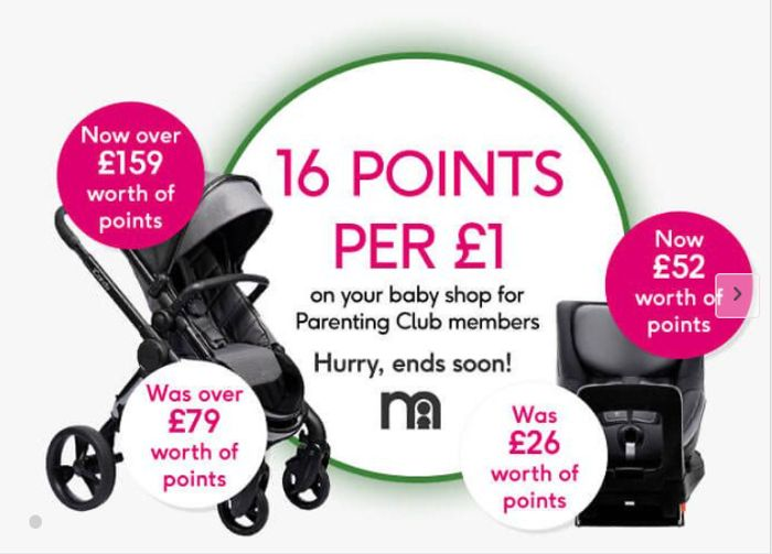 Boots Parenting Club Offer - 16 Points (16p) Per £1 On 2400+ Items!