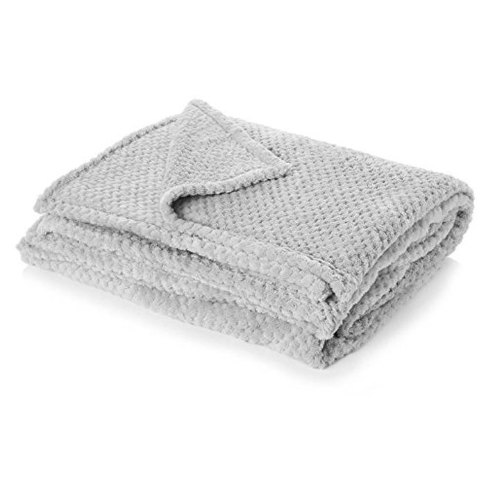 Dreamscene Luxury Waffle Mink Warm Throw over Sofa Bed Soft Blanket - Only £8!
