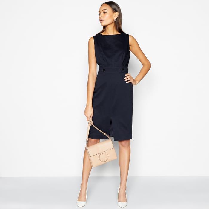 Principles - Navy Core Suit Knee Length Dress