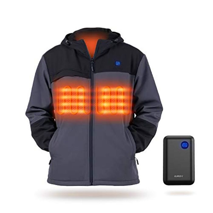 Deal Stack - Electric Heated Coat with 10000mAh Battery Pack