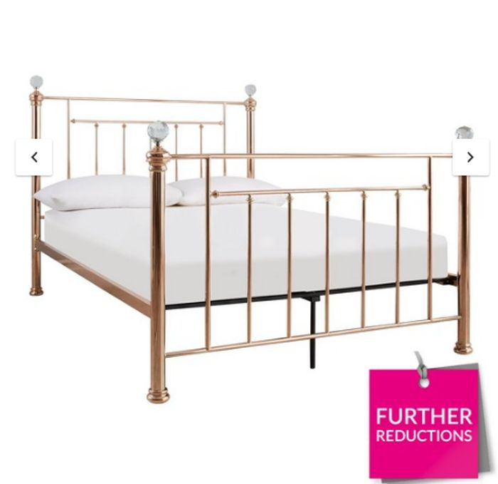 Rosy Metal Bed Frame Down From £499 to £299
