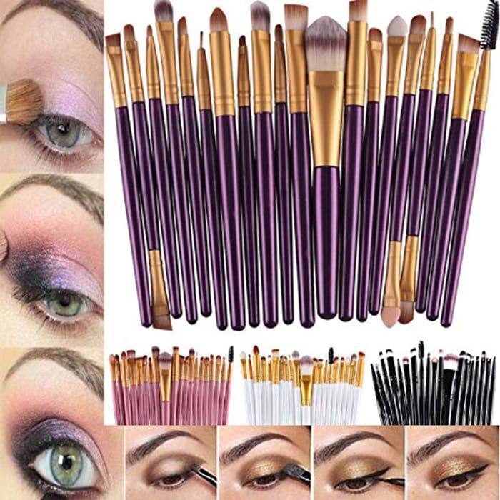 20Pcs Makeup Brushes Kit at Amazon